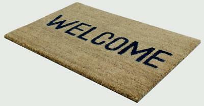 JVL Welcome PVC Coir Doormat