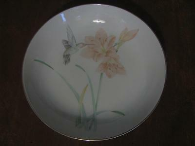 Crowning Touch Collection Hummingbird Floral Bowl for Hanging 7 3/4""