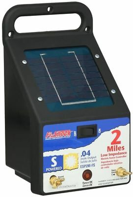 Fi-Shock Outdoor 2-Miles Solar Powered Electric Wire Fence Energizer Controller