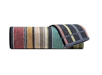 Missoni Home Bath sheet  TOMMASO Towel - black green white stripes 100x150