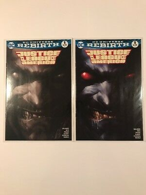 2-Justice League Of America 1 Mattina Lobo B&W And Color Variants NM