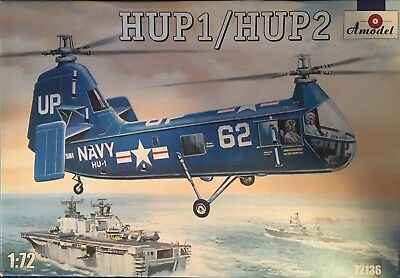Piasecki  HUP1/HUP2 NAVY Helicopter 1/72  Amodel #72136 Parts Factory Sealed