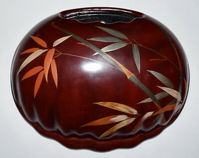 Vintage Maruni Lacquerware Wall Pocket Vase Made In Occupied Japan