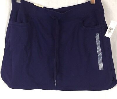 Old Navy Blue French Terry Mini Skirt Navy Blue Sz Large NWT