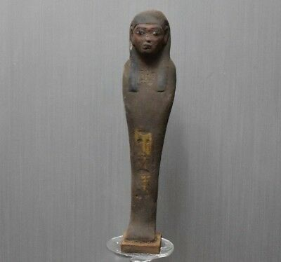 ANCIENT ANTIQUE Egyptian great stone ushabti statue (300-1500 BC)