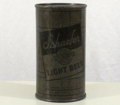 Schaefer Olive Drab Wwii Military Issue Flat Top Beer Can F&m New York City War+