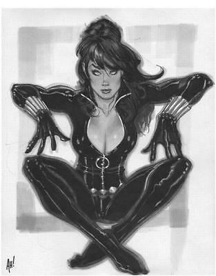 PRIMO: AH! Adam HUGHES original art published BLACK WIDOW Avengers Marvel comics