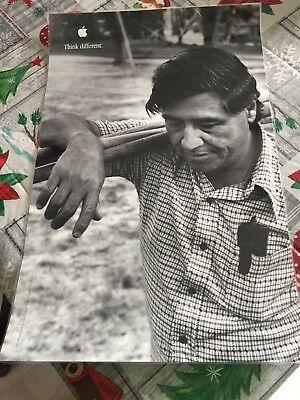 Cesar Chavez Apple Think Different Poster 17x11