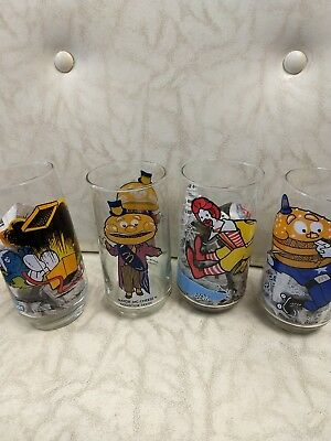 Vintage 1977 McDonald's Glasses Collector Series Lot (3)
