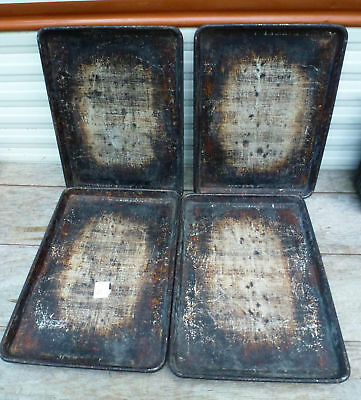 LOT of 4 - Half Size 18x13 Aluminum Baking Sheet Pan 1/2 cookie commercial 38
