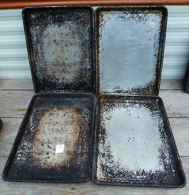 LOT of 4 - Half Size 18x13 Aluminum Baking Sheet Pan 1/2 cookie commercial 238