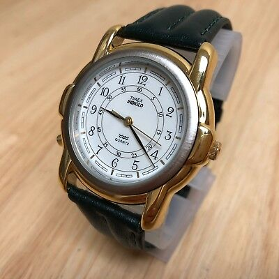 New Old Stock! Vintage Timex Indiglo Mens Dual Tone Analog Quartz Watch Hours