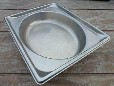 """Stainless Steel Half Size 2 1/2"""" Deep Oval Steam Table Pan buffet 2.5 mold"""