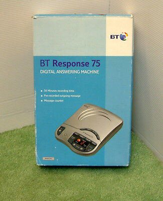 New BT Response 75 Digital [no cassettes needed] Telephone Answering Machine