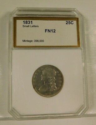 1831 Capped Bust Quarter Small Letters-Cleaned