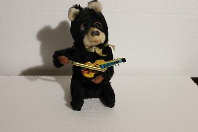 Wind Up Violinist Bear With Box
