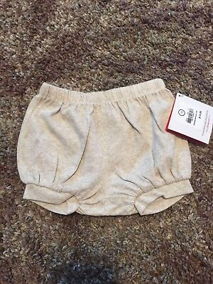 NWT Hanna Andersson 70 Bloomers Shorts Oatmeal Color New