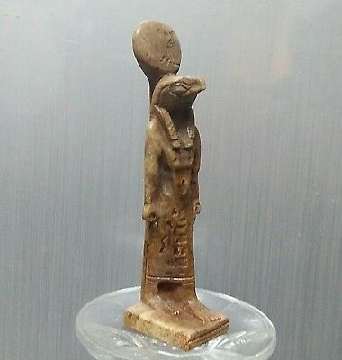 ANCIENT ANTIQUE Egyptian stone HORUS  (1500–300 BC)