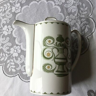 Vintage Susie Cooper 1960s Assyrian Motif Large Coffee Pot  21cm approx in VGC