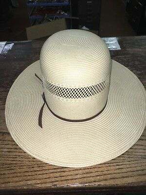 Resistol,10X,Shantung,panama,Straw,Cowboy Hat,7 5/8,New,Natural,Tan,Oval,nr