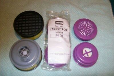North Niosh P100 Respirator Filters Part No. 7580P100