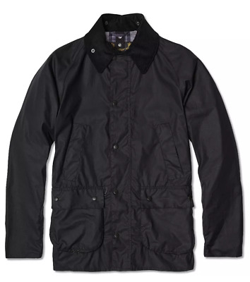 BARBOUR SL BEDALE Jacket Black Ashby Beaufort - Size L Large