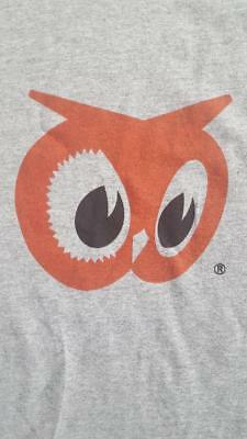 Red Owl Grocery Store Gray T-Shirt - Vintage Logo - Size Large - Red Owl Foods