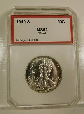 1940-S Walking Liberty Half Dollar 50c Cleaned Uncirculated