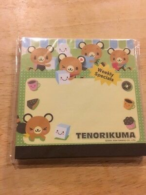 Sanrio Hello Kitty Tenorikuma Mini Notepad New In Package