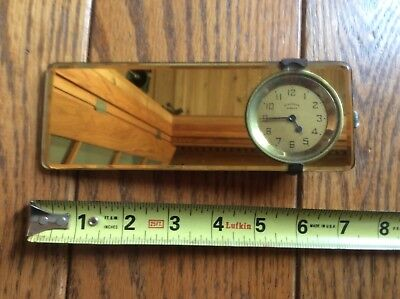 Vintage Automobile Mirror Clock - Standard Mirror Co.