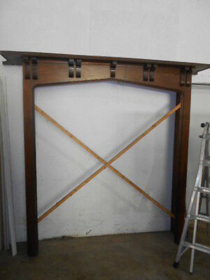 Arts and Crafts Antique Oak Fireplace Mantel