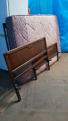 vintage 1940s bed,complete with springs.