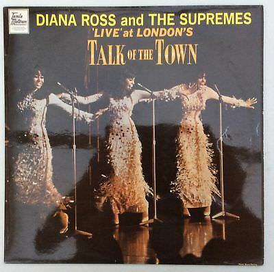 Diana Ross Supremes 'Live' At London's Talk Of The Town UK LP Motown STML 11070