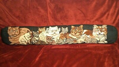 Feline Cats Kittens Oblong Decorative Needlepoint Tapestry Throw Pillow LONG 35""