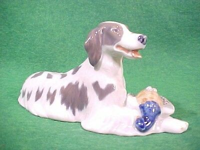 Lovely Royal Copenhagen Setter Dog With Pheasant #1533 Figurine By Knud Moller