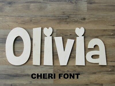 "Wooden Wall Letters 6"" Capital letter Kids Room Decor Craft Projects"