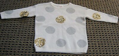 Seed Heritage Girls Gold Sequinned Jumper / Knit  Sz 1 - 2