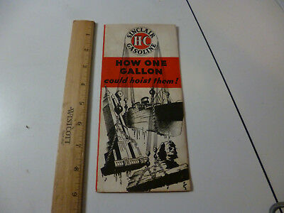 Sinclair Gasoline 1934 Advertising Brochure How One Gallon Could Hoist Them