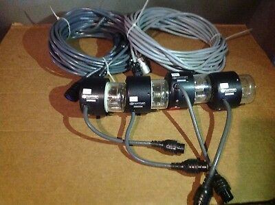 Four  NORMAN LH2000 Flash Heads 2 40ft 2 31ft cables.