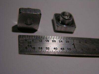 "186 pcs. ALUMINUM SQUARE .400"" x .400"" NUTS FOR #10-24 FORMING SCREWS w/shoulder"