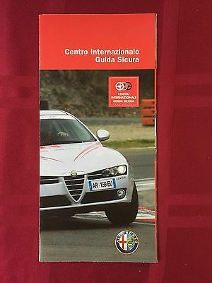 Alfa Romeo Brochure for the International Safe Driving Center