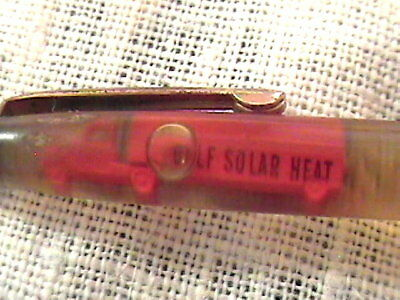 "Vintage Metal Gold Adv Gulf Solar Heat Floaty ""red Truck"" Mechanical Pencil !!"