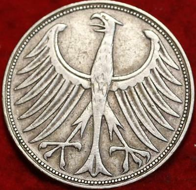 1951 Germany 5 Mark Silver Foreign Coin