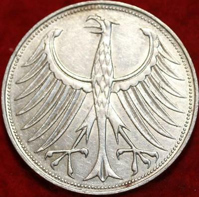 1961-D Germany 5 Mark Silver Foreign Coin
