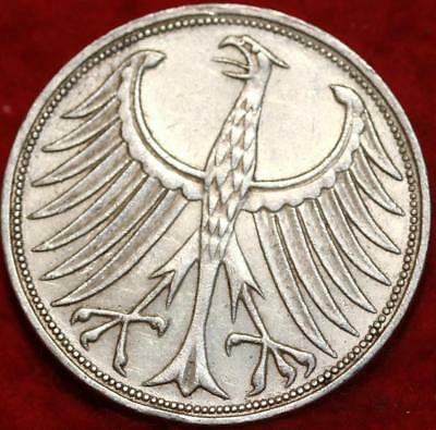 1969-F Germany 5 Mark Silver Foreign Coin