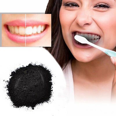100% Organic Charcoal Bamboo Activated  Natural Teeth Tooth Whitening Powder