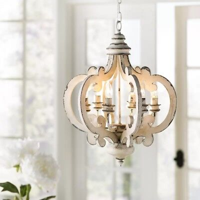 Hanging Light Fixture Rustic Vintage Pendant Farmhouse Foyer Dining Chandelier