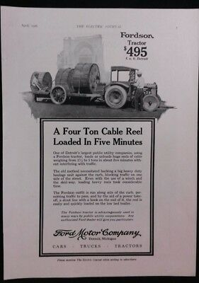 Vintage Ad 1920's FORDSON TRACTOR & OKONITE-CALLENDER CABLE Co.    #8