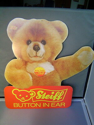 STEIFF Molly Teddy Bear Full Color Display Sign printed on both sides 18 inches