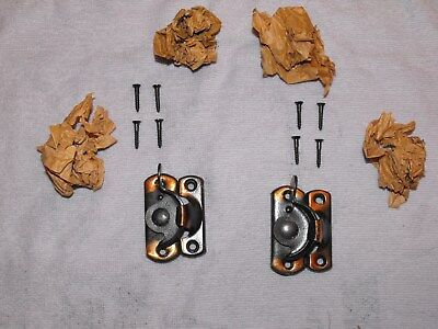 2 Antique Vintage Flash Copper Window Locks With Screws. New Old Stock.
